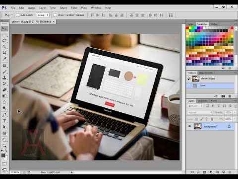 تعلم كيف تصنع الموك اب بنفسك على الفوتوشوب Youtube Electronic Products Tablet Laptop