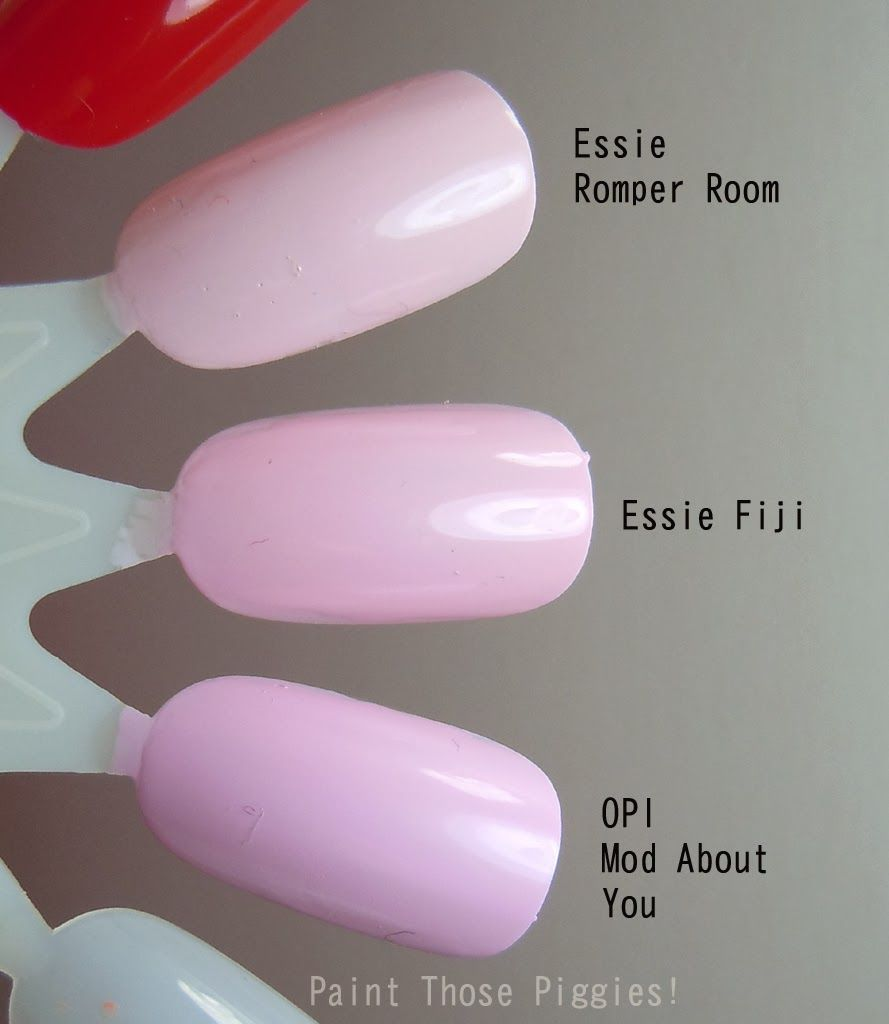 PALE PINK NAIL POLISH SWATCHES~Colors:Essie Romper Room Vs
