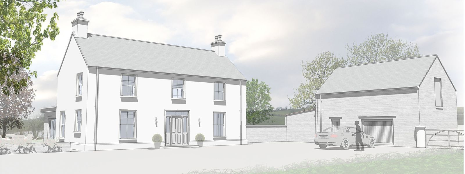 Traditional country house plans ireland for Modern cottage house plans ireland