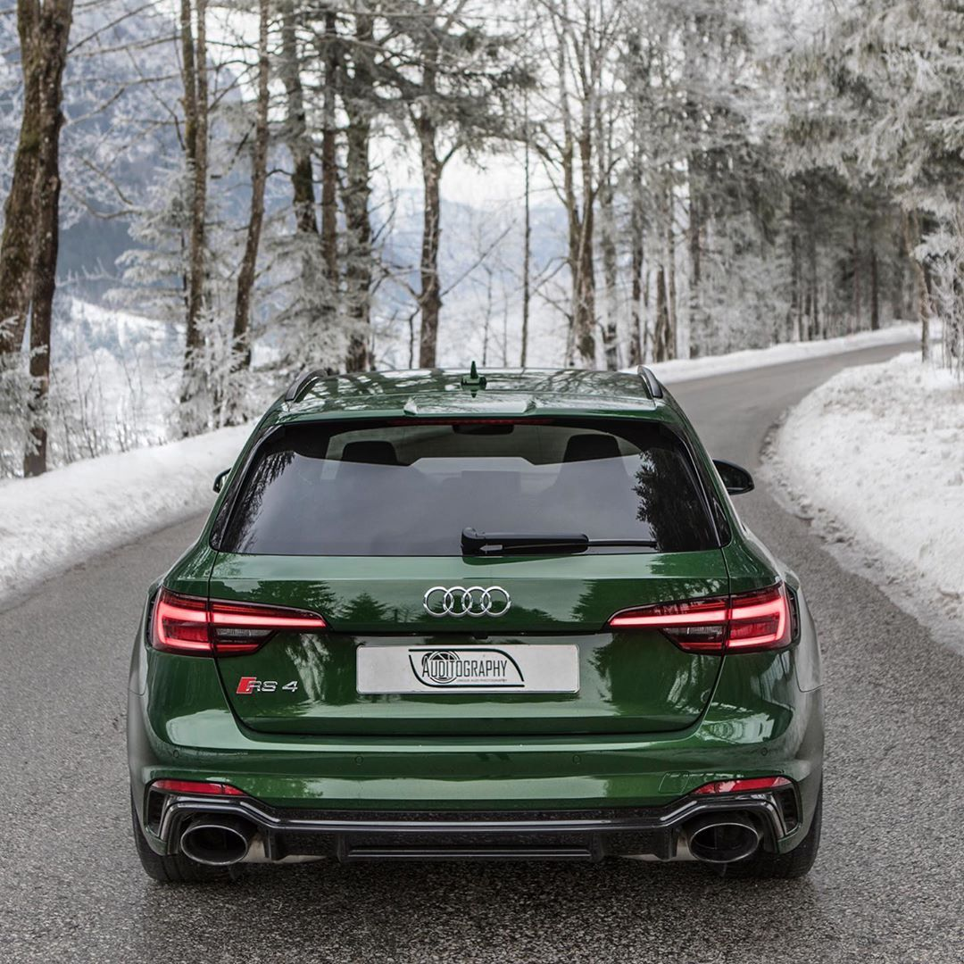 8 370 Moy Aresei 26 Sxolia Auditography Auditography Sto Instagram More Of The Sonoma Green Beast In The Winter Audi Rs4 Avant Audi Rs4 2020 Audi