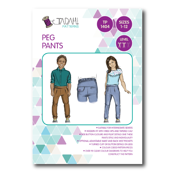 Peg Pants Sewing Pattern | Boy Sewing Patterns | Pinterest | Sewing ...