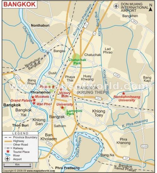 Buy Bangkok Map From Online Map Store Bangkok Map Map Bangkok City