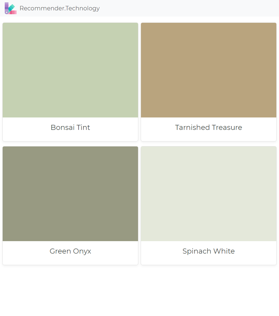 Bonsai Tint Tarnished Treasure Green Onyx Spinach White Paint Colors For Home Exterior House Colors Paint Color Palettes