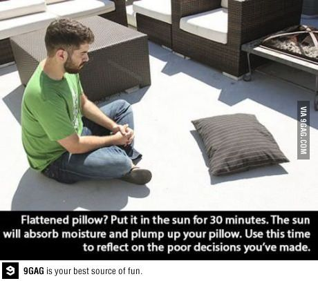 How to fluff pillows in sunlight