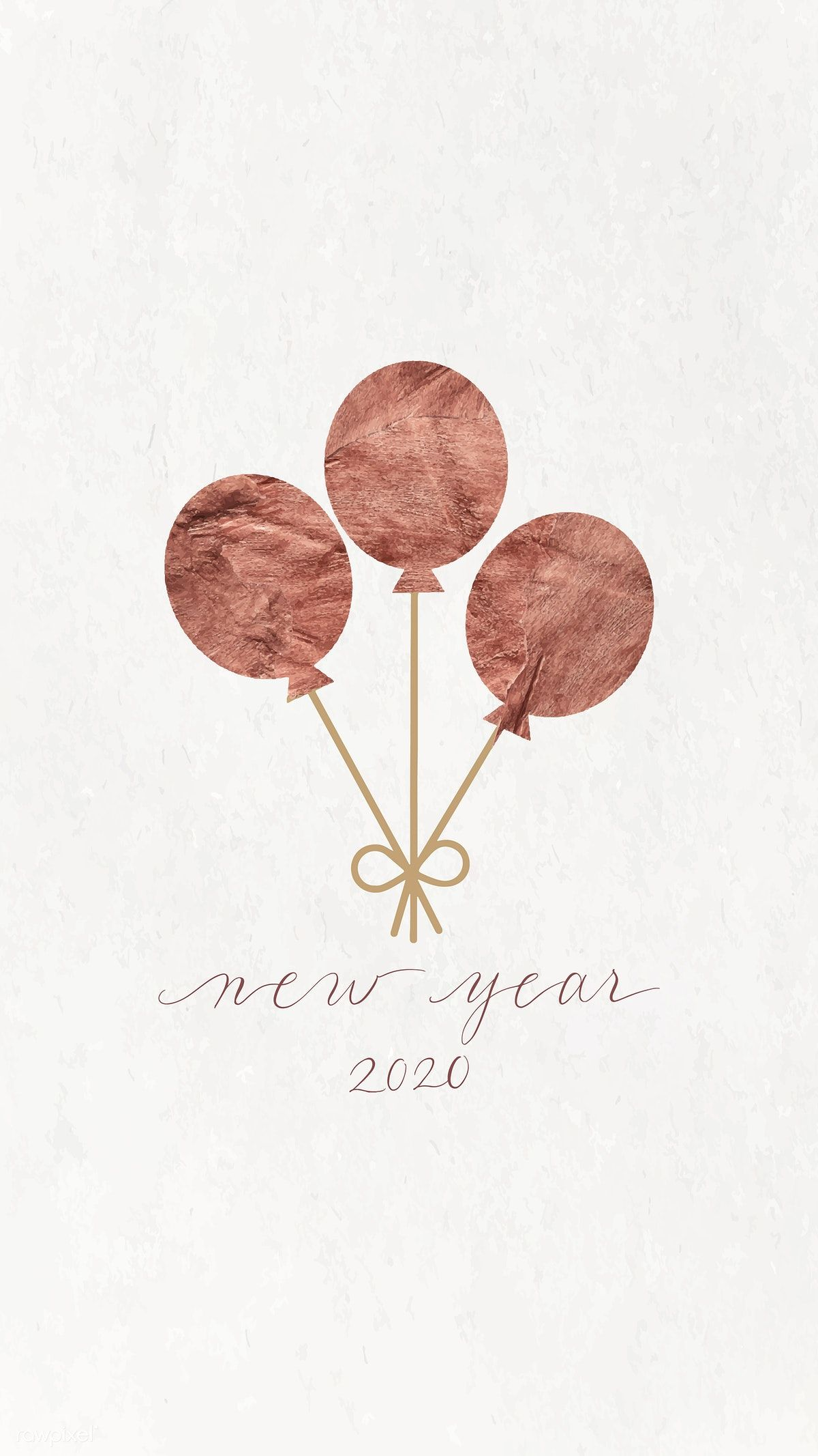 Download premium vector of New Year balloons doodle with New Year 2020 #newyearwallpaper