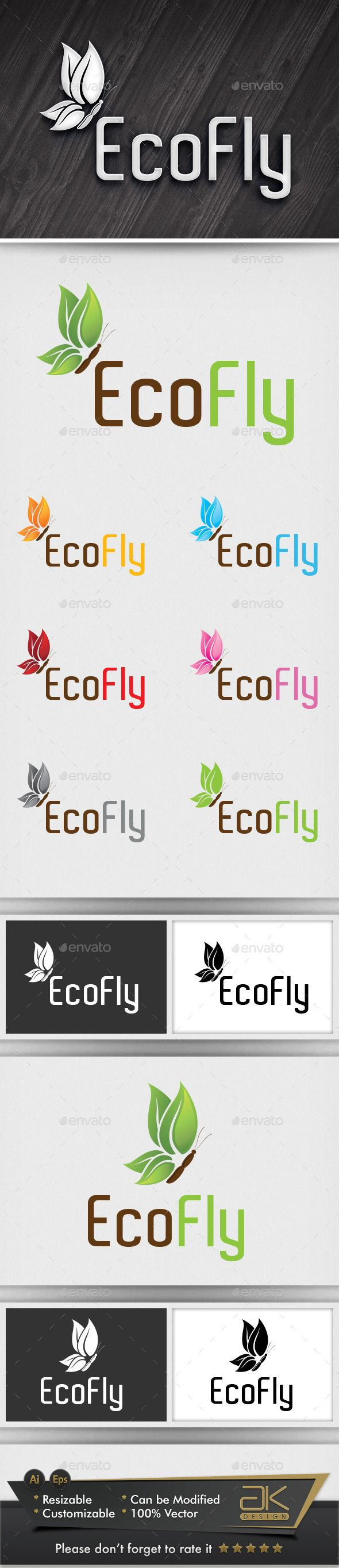 Eco Fly - Logo Design Template Vector #logotype Download it here: http://graphicriver.net/item/eco-fly/6045271?s_rank=877?ref=nexion