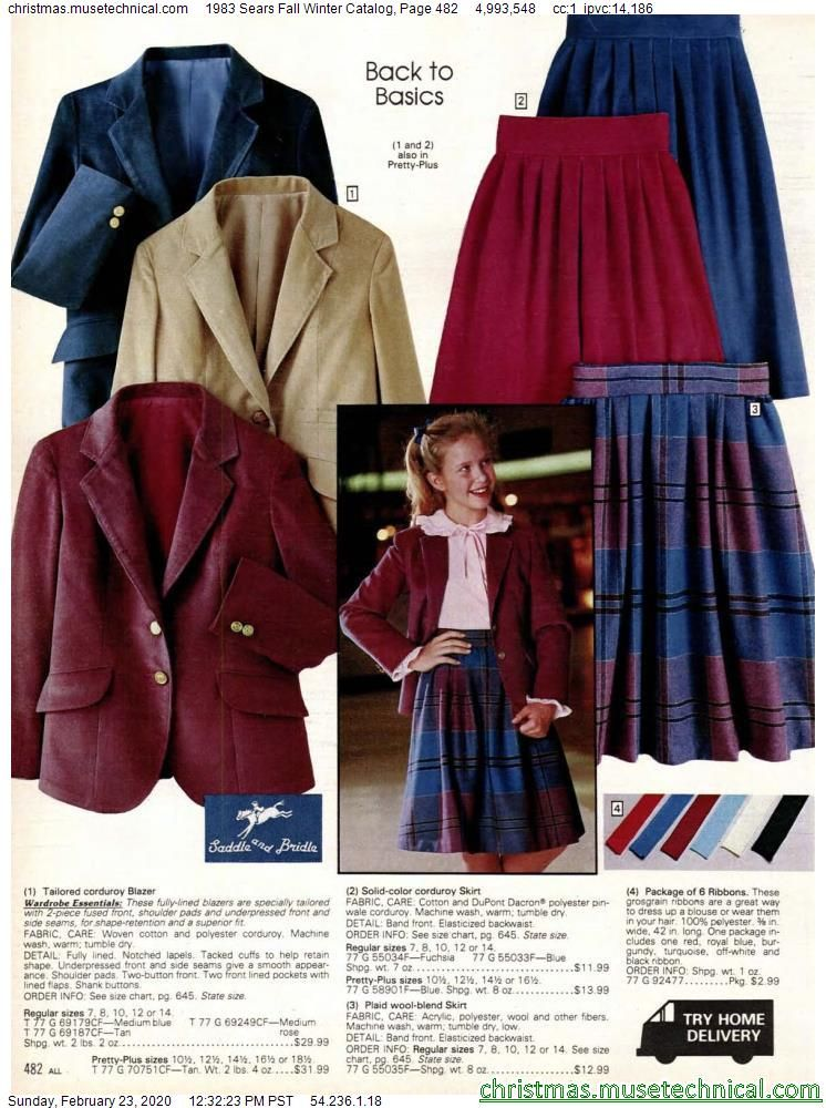 1983 Sears Fall Winter Catalog, Page 482 - Christm