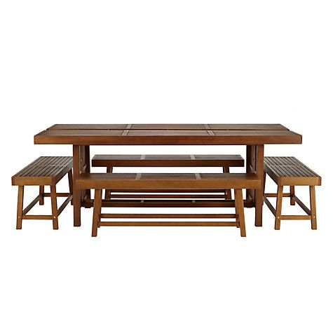 Buy John Lewis Drift 10 12 Seat Outdoor Dining Table and 2 Benches