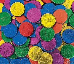 CHRISTIAN BUBBLE GUM COINS (100PC)