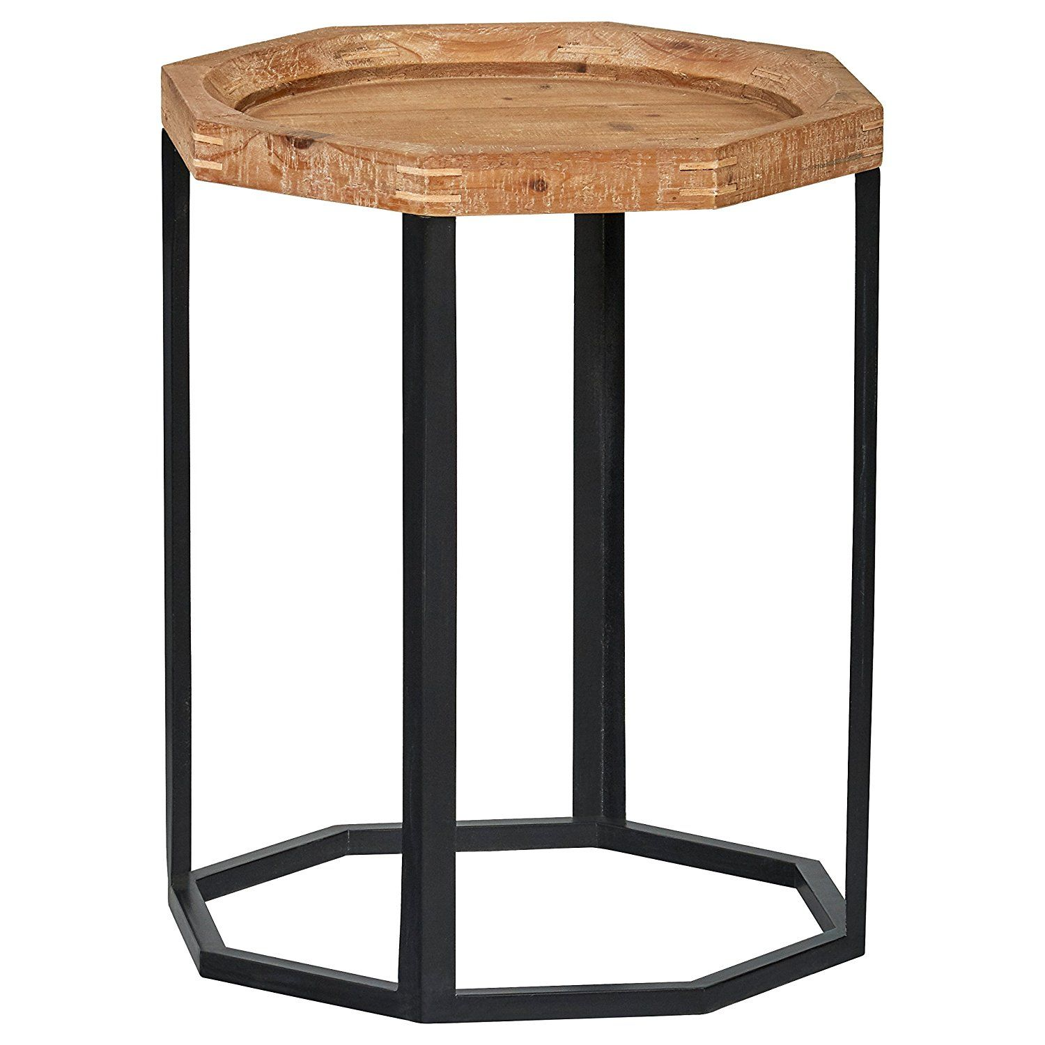 """Stone & Beam Arie Octagonal End Table, 17.3""""W"""