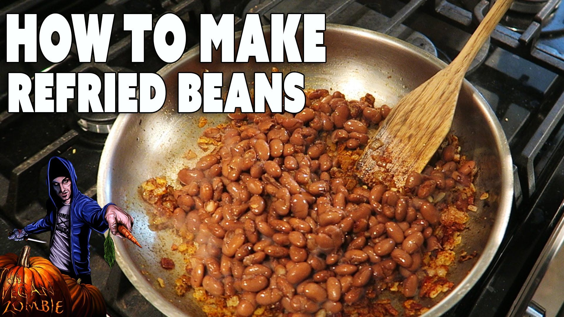 Homemade refried beans the vegan zombie easy healthy try soon homemade refried beans the vegan zombie forumfinder Images