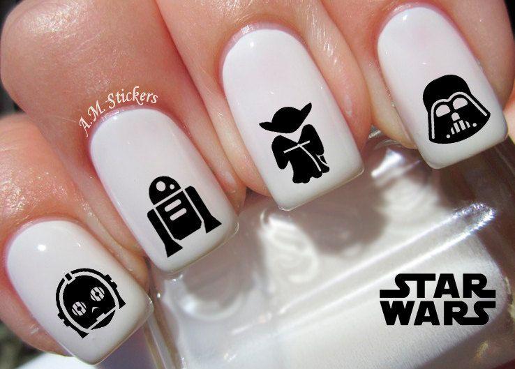 78 Star Wars Nail Decals | Diseños de uñas, La marcha imperial y ...