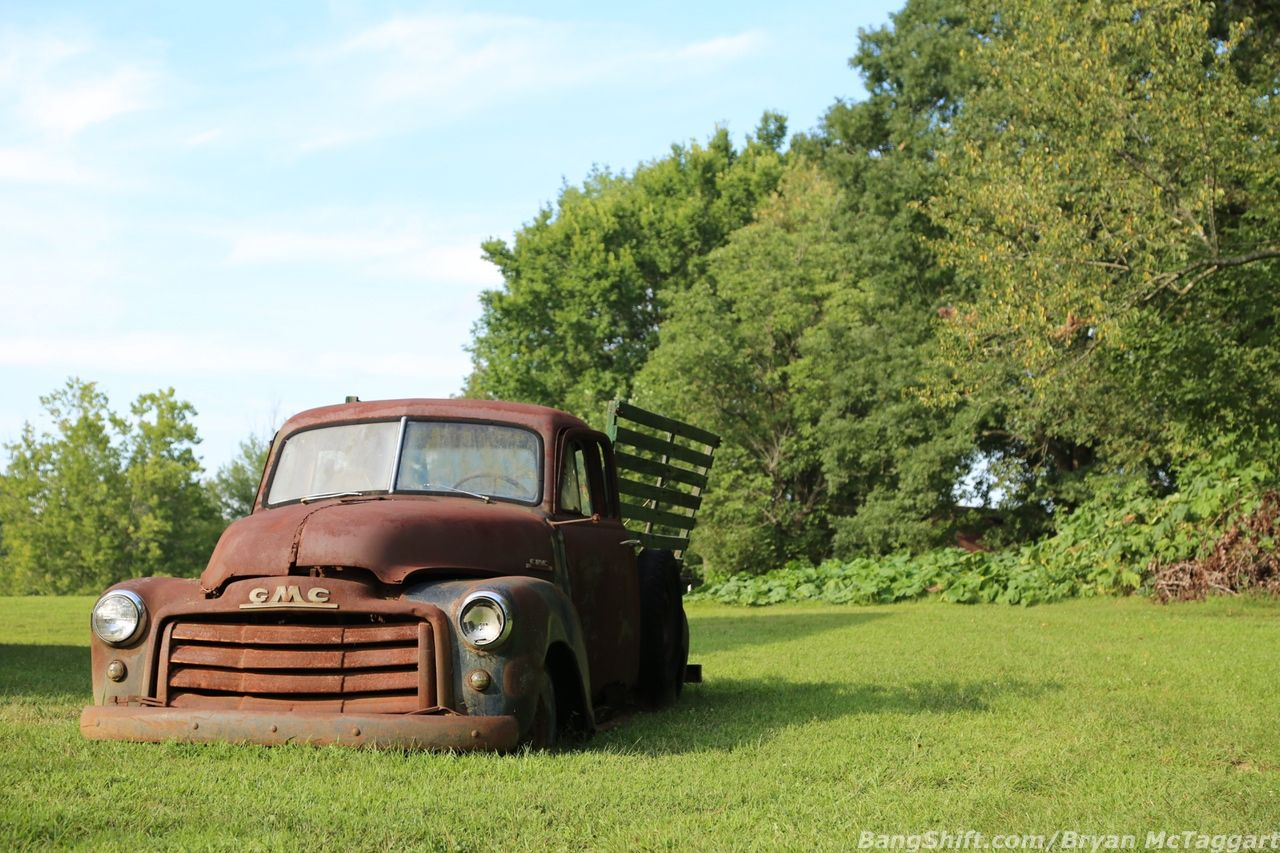 McTaggart found this farmfresh GMC sitting as it probably