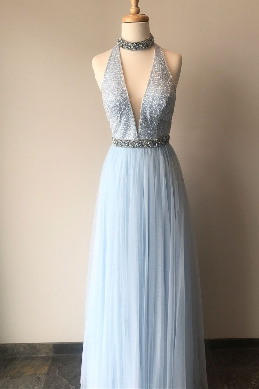 Custom Made Appealing Prom Dresses Blue Prom Dresses Long Prom