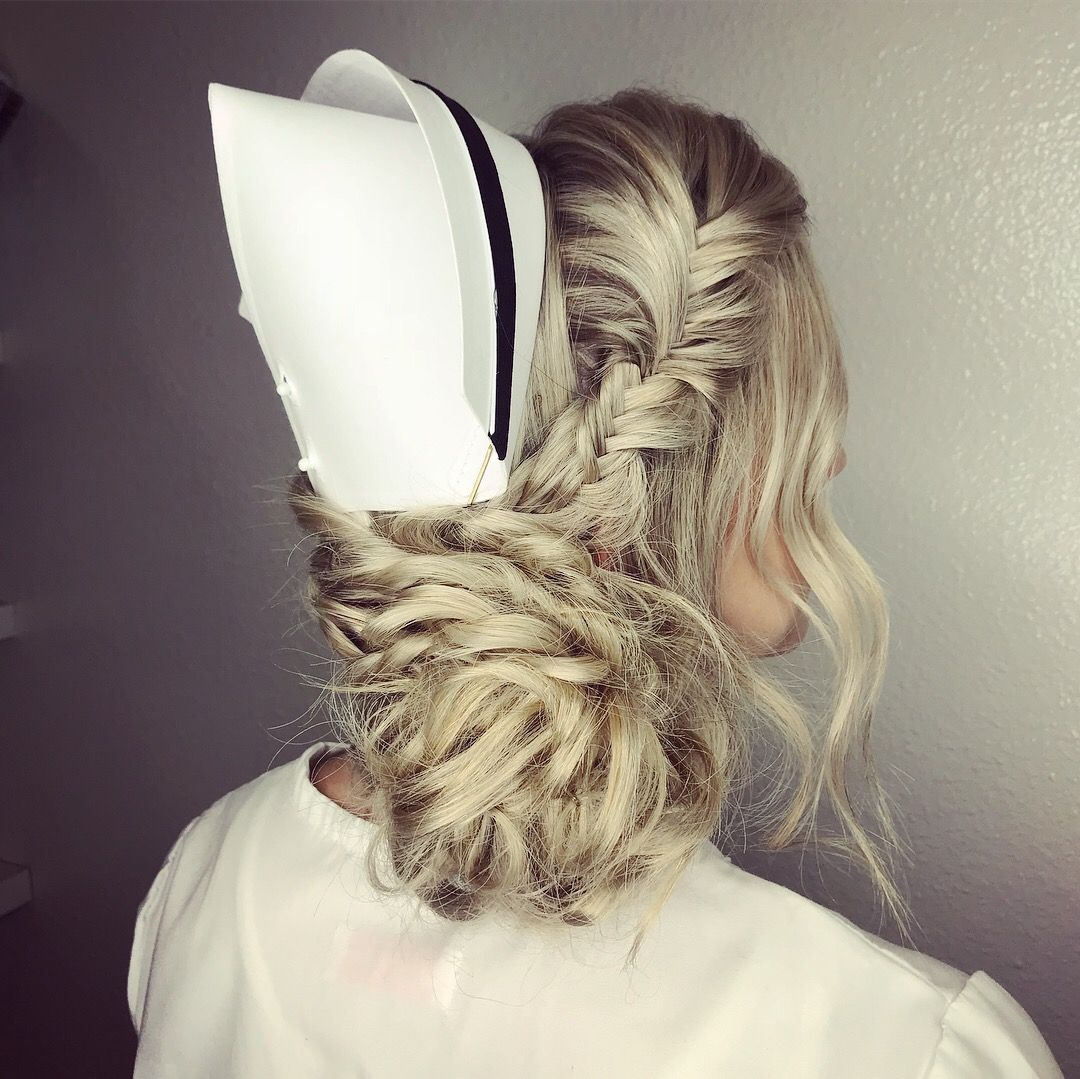 blonde updo for nursing graduation | hair goals | blonde