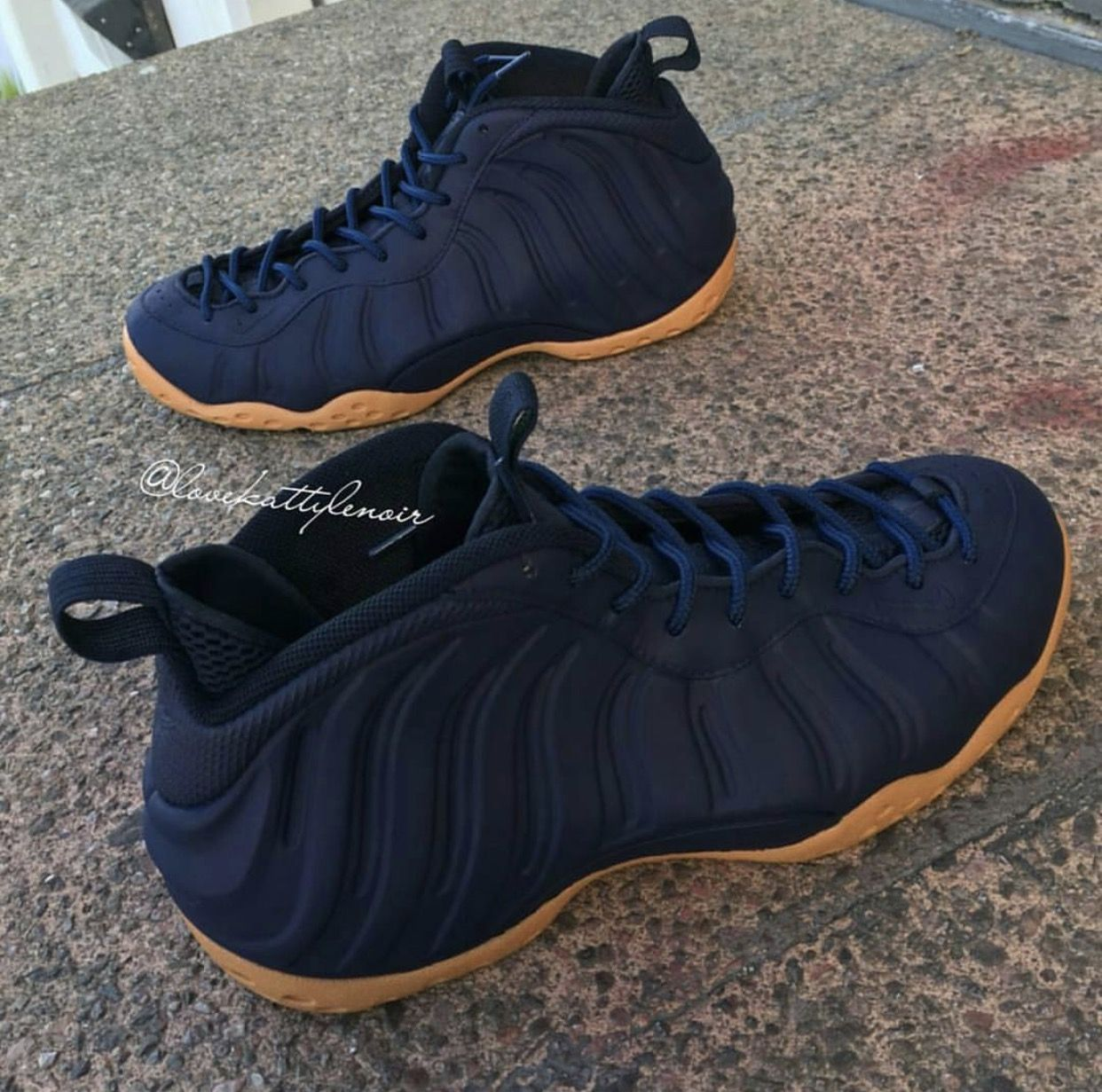 classic fit 6ac5a 30ac2 Foamposite Night Blue/ peanut butter bottle. | Shoes in 2019 ...