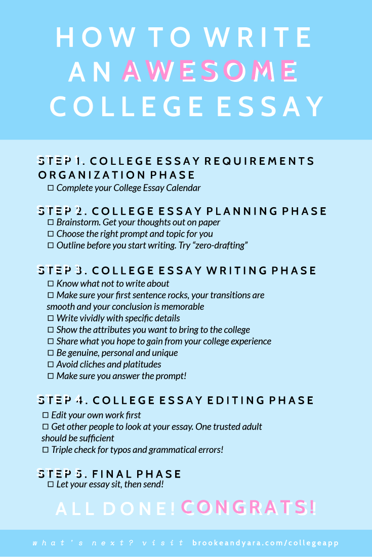 the ultimate college application planning & essay guide for seniors