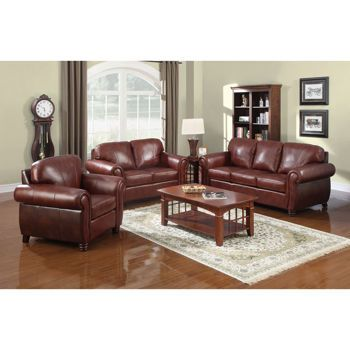 Costco Townsend 3 Piece Leather Set Living Room