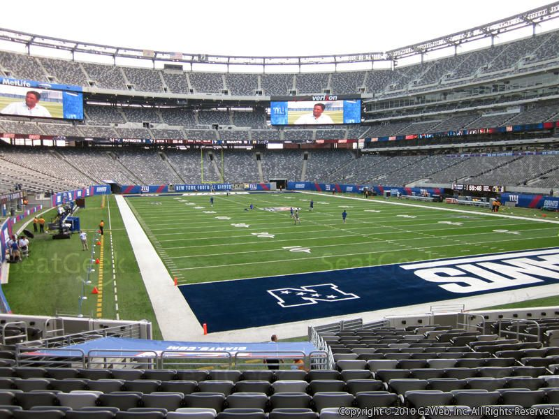 Metlife Stadium Section 104 View Seating Rows Seatgeek Metlife Stadium Stadium Stadium Seats