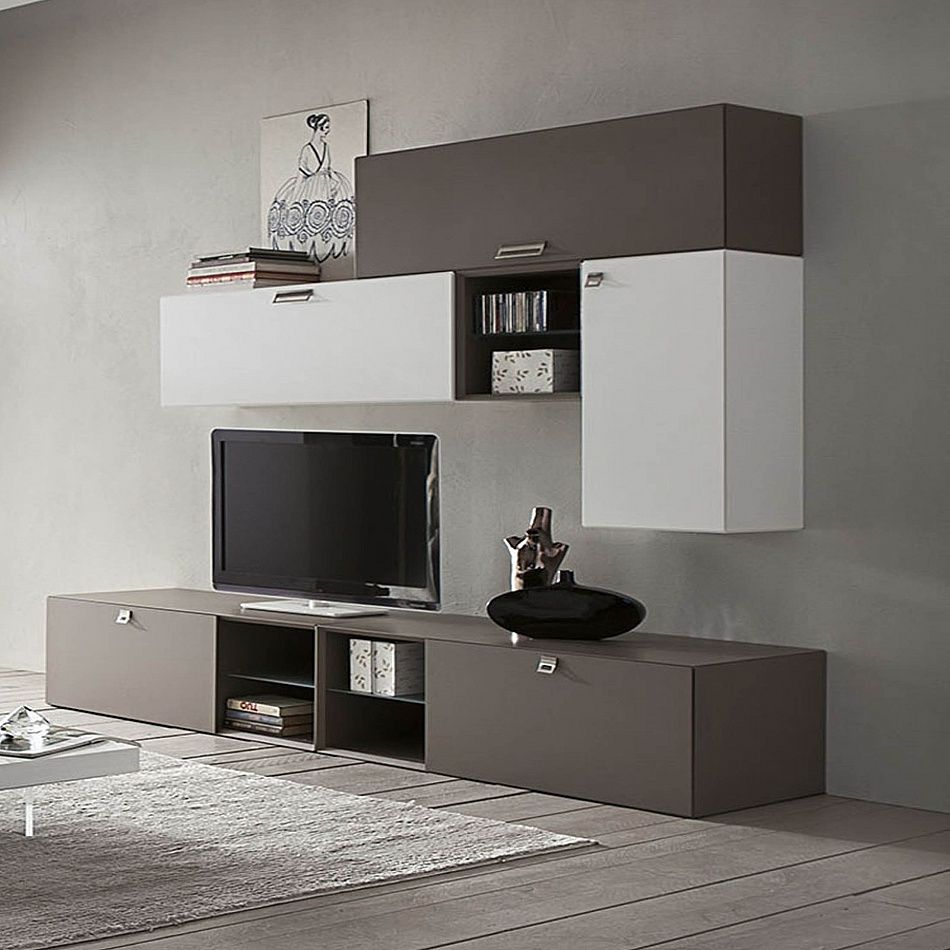 Modern universal wall tv unit lego by la primavera tv - Wall mount tv ideas for living room ...
