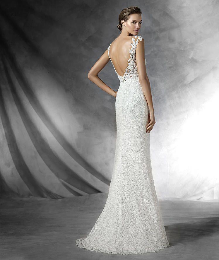 preta - vestido de novia sencillo de encaje | bride | pinterest