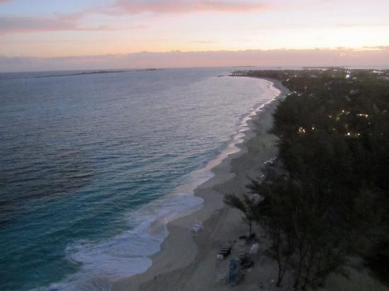 Every morning: walk on the beach