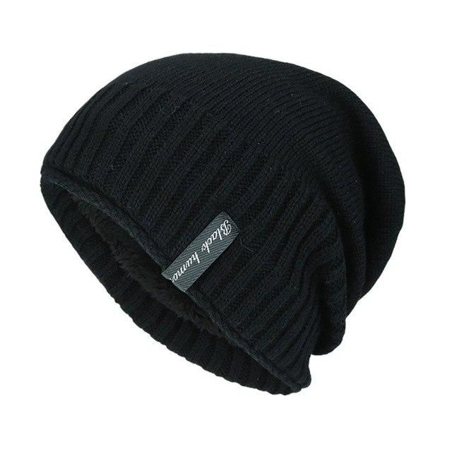 bf77239935a941 1Pc Men Knitted Hat Winter Striped Soft Breathable Folding Windproof Warm  Cap Dropshipping B