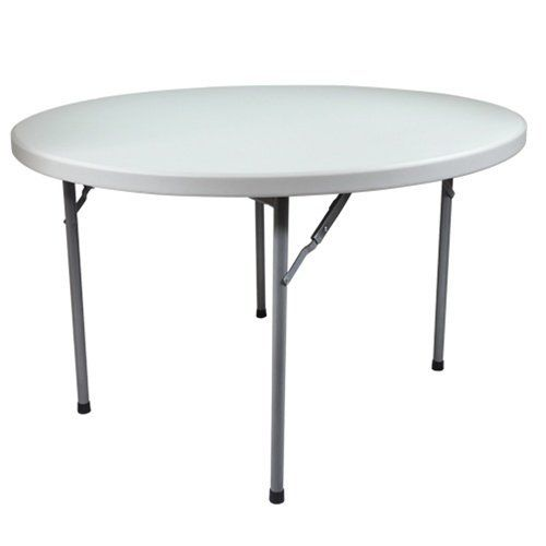 Advantage 4 Ft 48 Inch Round Plastic Folding Table Ftd48r By
