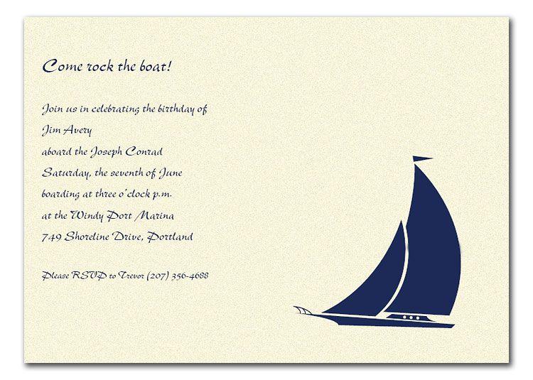 Sailboat Wedding Invitations: Wedding Card Design For A Nautical Theme