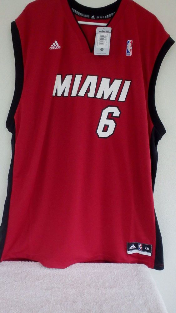 7f41f750719 Adidas Men Lebron James  6 Miami Heat Alt Red 2nd Road Swingman XXL Rep  Jersey  adidas  MiamiHeat