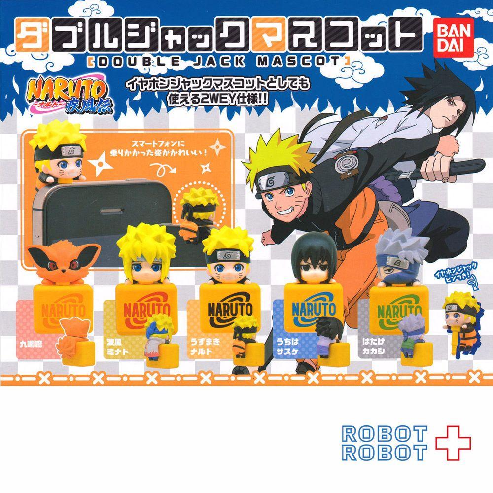 NARUTO Shippuuden Double Jack Mascot x6 pcs Set Phone Jack BANDAI Gashapon Japan
