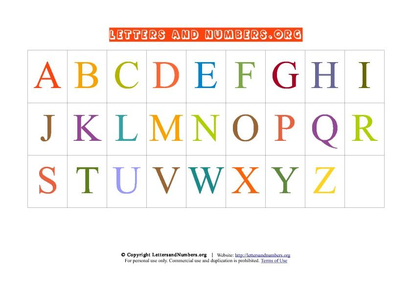 photograph about Abc Chart Printable Pdf identified as Letter Chart A-Z PDF Uppercase College or university Abc chart, Money