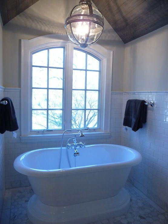 kelley gardner: master bathroom Master Bath with white subway tile ...