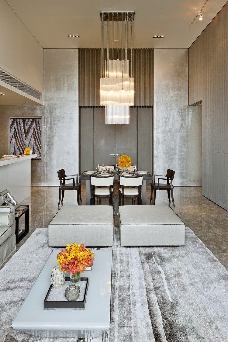 quelle couleur avec le taupe pour un salon cosy : tapis gris