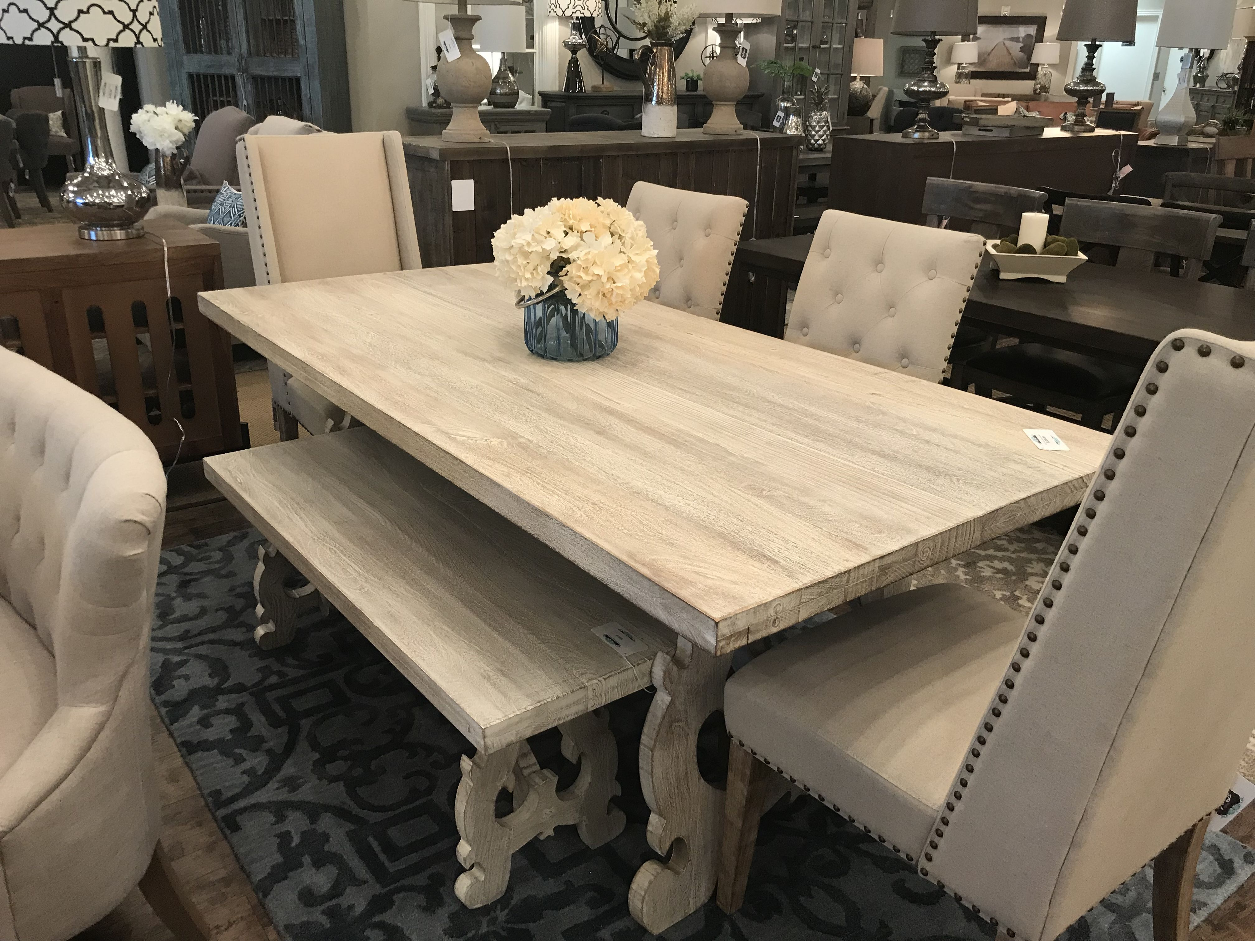 Elle 78 Dining Table Gray Wash 1 299 99 Dining Table