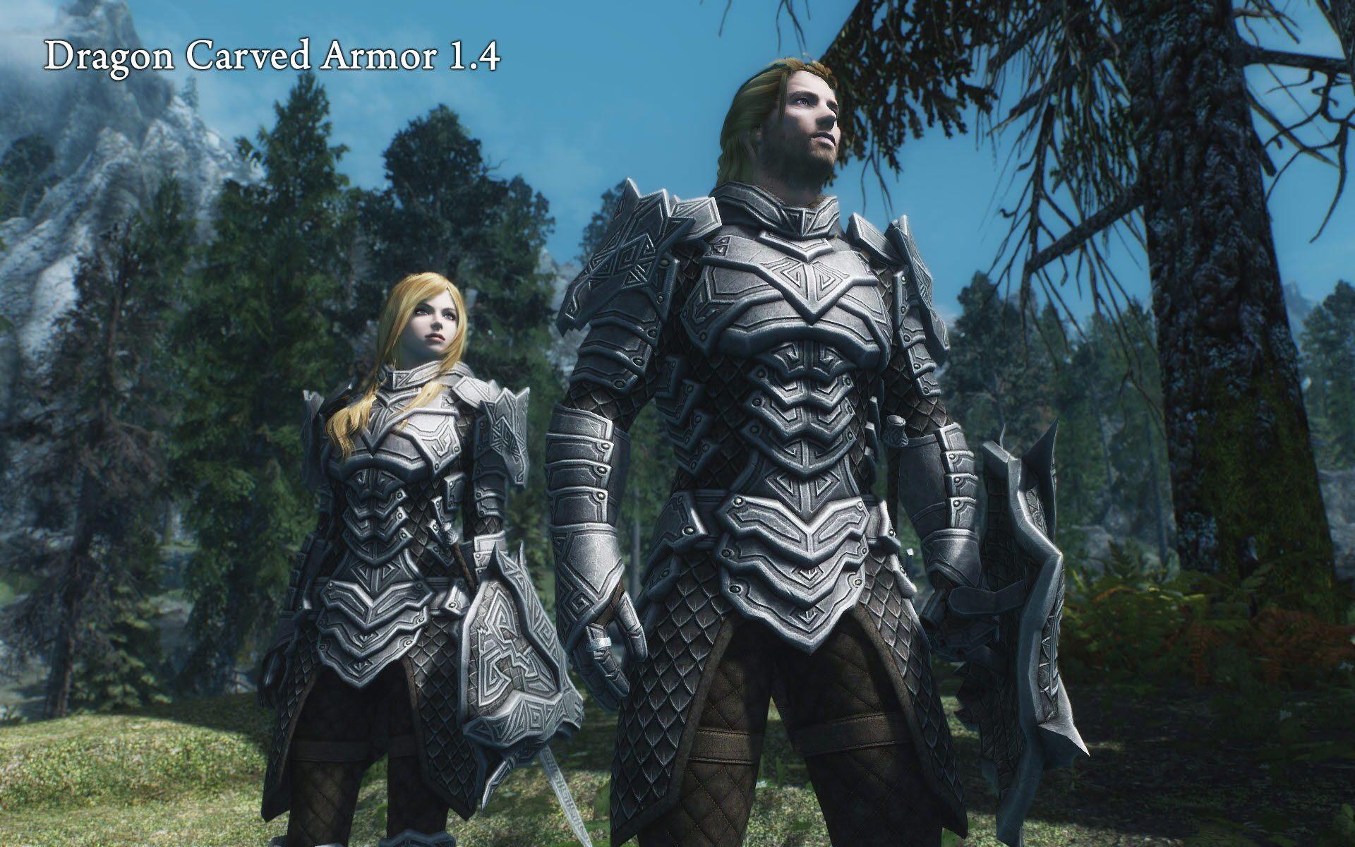 Dragon Carved Armor Set at Skyrim Nexus - mods and community