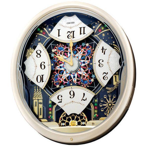 Seiko Clock Melodies In Motion Kaleidoscope Musical Wall Clock Qxm239srh Seiko Music Clock Clock