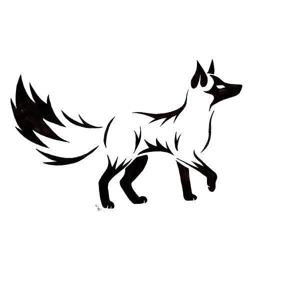 Black Tribal Fox Tattoo Design is part of Fox Tattoo Meaning And Designs Ideas - Awesome black tribal fox  Style Tribal  Color Black  Tags Cool, Best, Awesome, Elegant