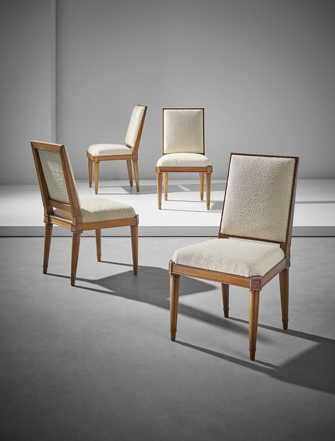 Paul Rodocanachi Jean Michel Frank Set Of Four Dining Chairs Artsy Dining Chairs Furniture Dining Chairs Chair Set of four dining chairs
