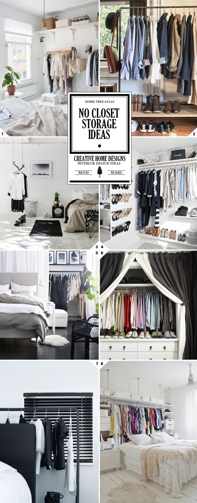 Getting Creative: No Closet Solutions And Storage Ideas
