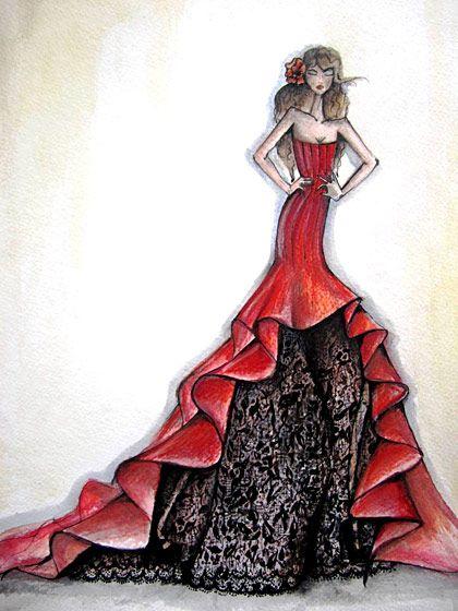 Flamenco dress drawing images