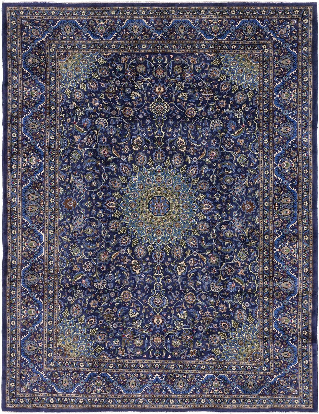 Navy Blue 10 X 13 Kashmar Persian Rug Persian Rugs Handknotted Com Blue Persian Rug Rugs On Carpet Persian Rug Living Room