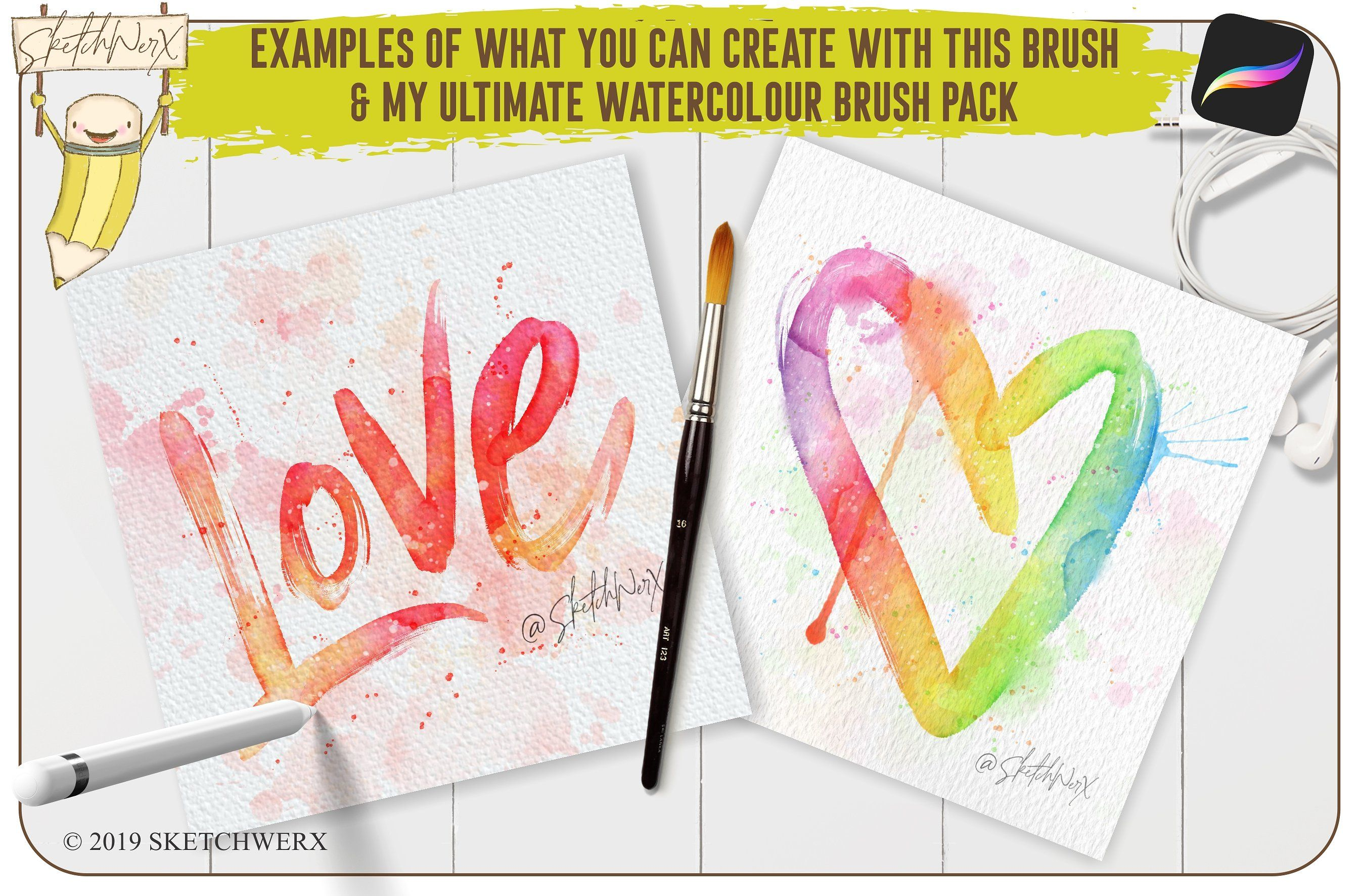 Parched As Brush Pen Procreate Brush Pen Watercolor Lettering