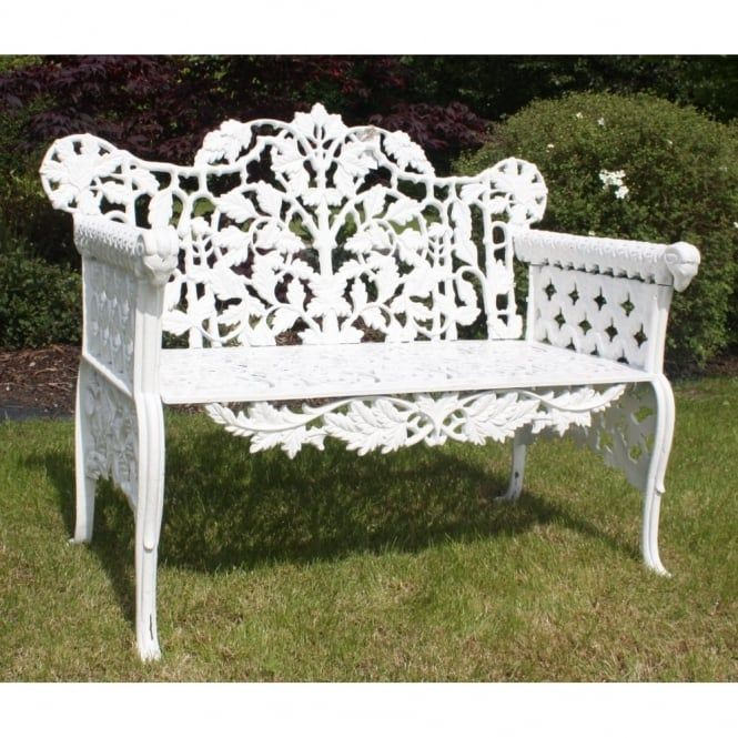 Chicmyroom Cast Iron Antique Style  Seater Rams Head Garden Bench