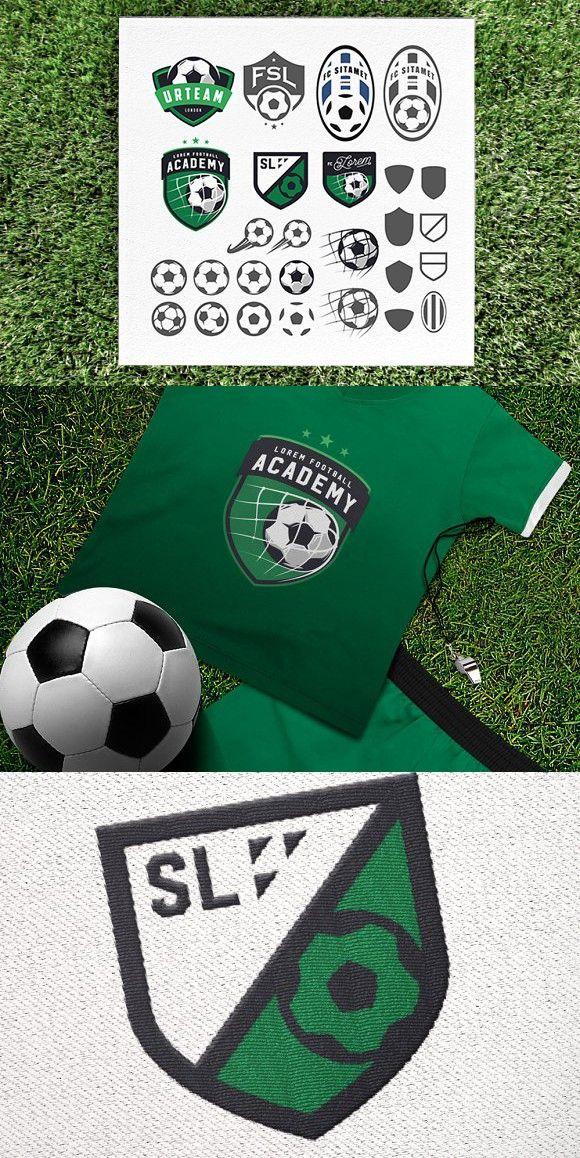 Soccer Emblem Design Elements Football Logo Design