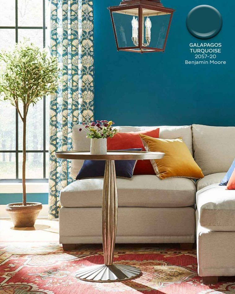 August September 2019 Paint Colors Turquoise Walls Living Room Teal Paint Colors Paint Colors For Home