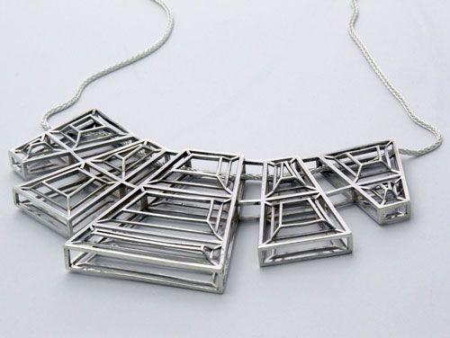 Fathom  Form Jewelry Digital fabrication, 3D Printing and San - statement form