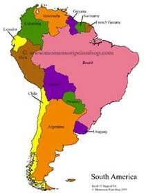 Free Printable Map Of South America Bing Images Actividades Montessori Puerto Rico Geografia