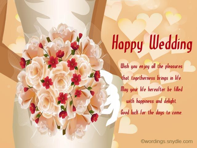 Wedding Wishes Messages And Day Wordings