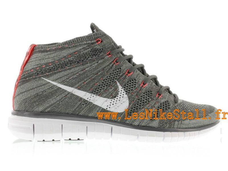 Officiel Nike Free Flyknit Chukka Chaussures Nike Running Pour Homme  Crimson Minuit Brouillard/Blanc-